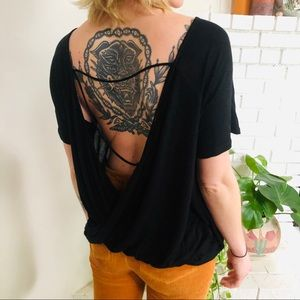Black Lush Urban Outfitters Top with Open Back
